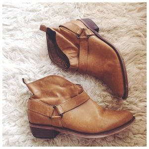 FP Coconuts by Matisse Triangle Buckle Ankle Boots